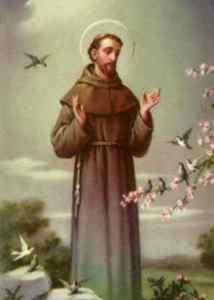 Franciscus preek voor de vogels