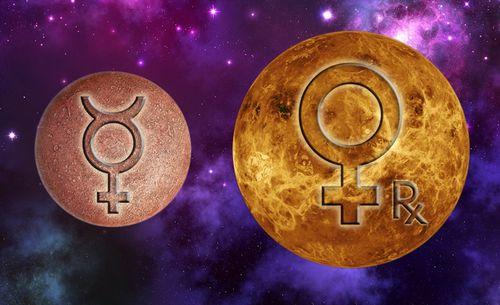 Mercurius conjunct Venus