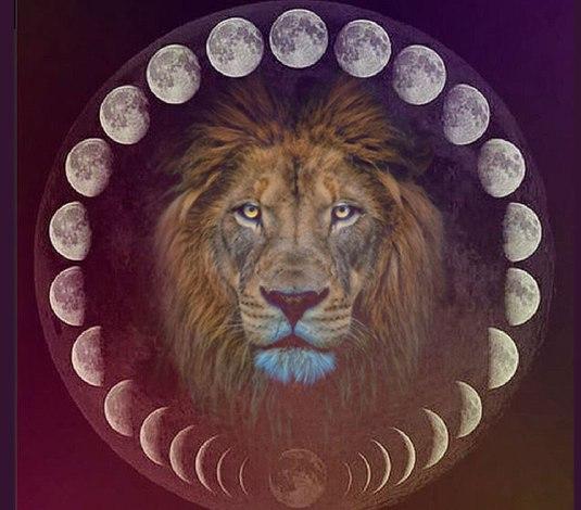 Maan in Leeuw